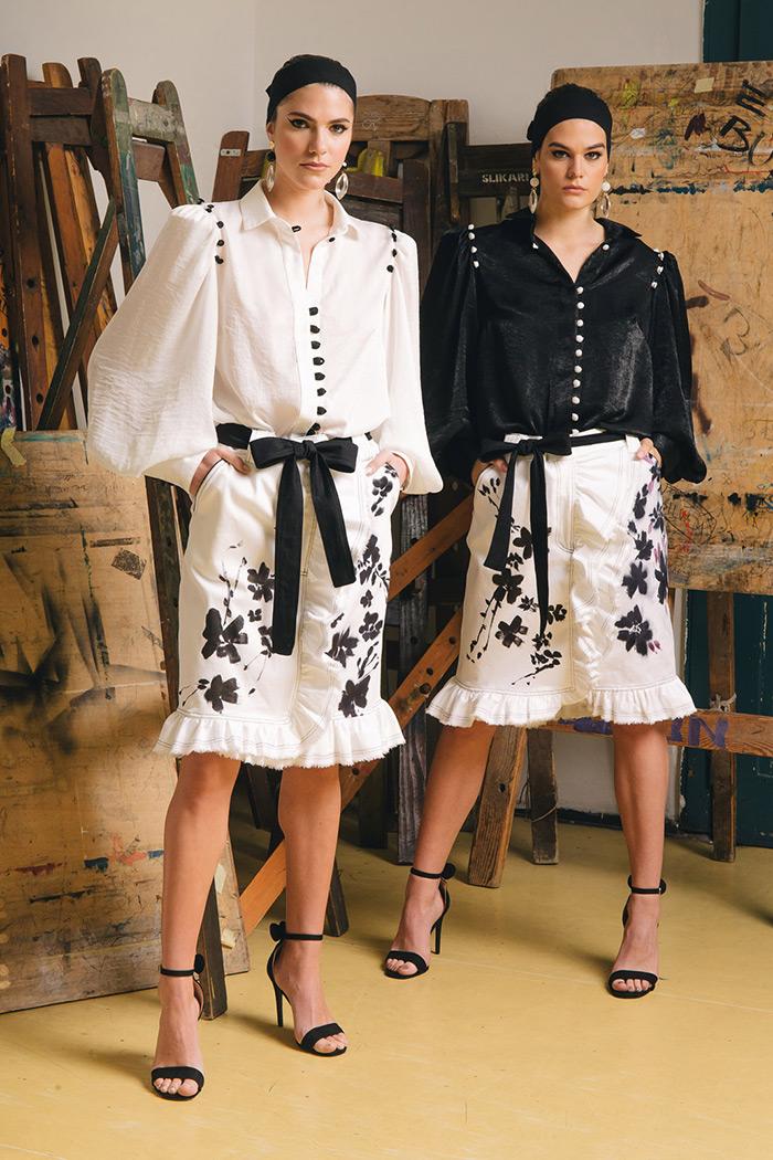 Rober Sever modna revija oslikani traper