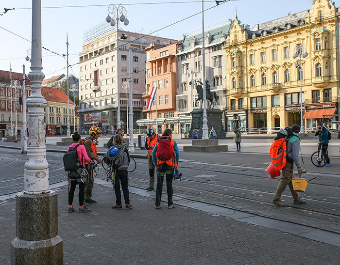 koronavirus potres Zagreb fotke fotografije nakon potresa alpinisti