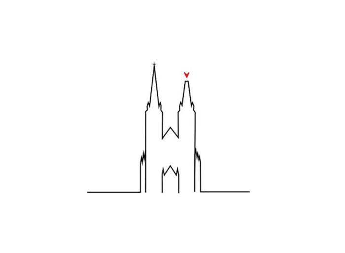 """U nedjelju ujutro nakon snažnog potresa koji je zadesio Zagreb svima nam je otpao komadić srca kad smo vidjeli polomljen vrh južnog tornja Katedrale. Krajobrazna arhitektica Matea Bolčević kreirala je ilustraciju Katedrale s jednim nižim tornjem na kojem je križ zamijenilo srce i poslala snažnu poruku. Uz ilustraciju je napisala: """"Srce za sve jučerašnje, današnje i buduće heroje. Grad nisu samo lijepe zgrade, grad su ljudi. A ljudi čine crkvu, zajedništvo i nesebičnu ljubav."""