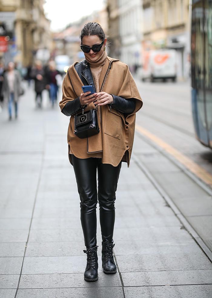 kako kombinirati kožni šorcevi šorc hlače street style outfit zagreb