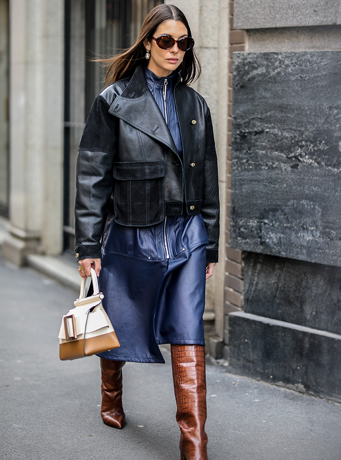 kako kombinirati kožni šorcevi šorc hlače street style outfit milano