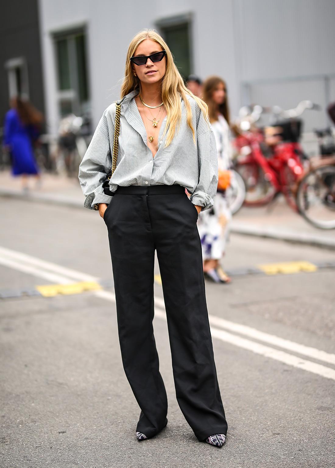 kako kombinirati mušku košulju ženska moda