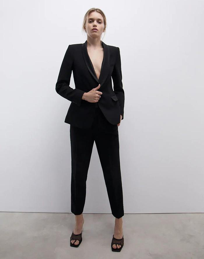 crno ljetno odijelo zara bijeli šorc bermude kako kombinirati moda trend ljeto