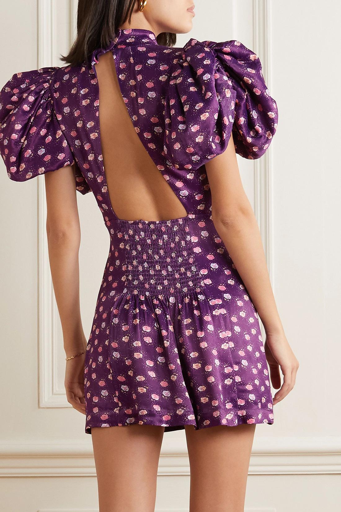 najbolje haljine otvorena gola leđa moda ljeto 2020 zagreb Ljubičasta Rotate Birger Christensen haljina