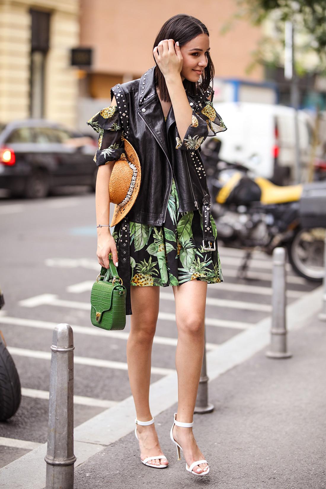 ženska moda ljeto 2020. haljina i kožni prsluk Twinset