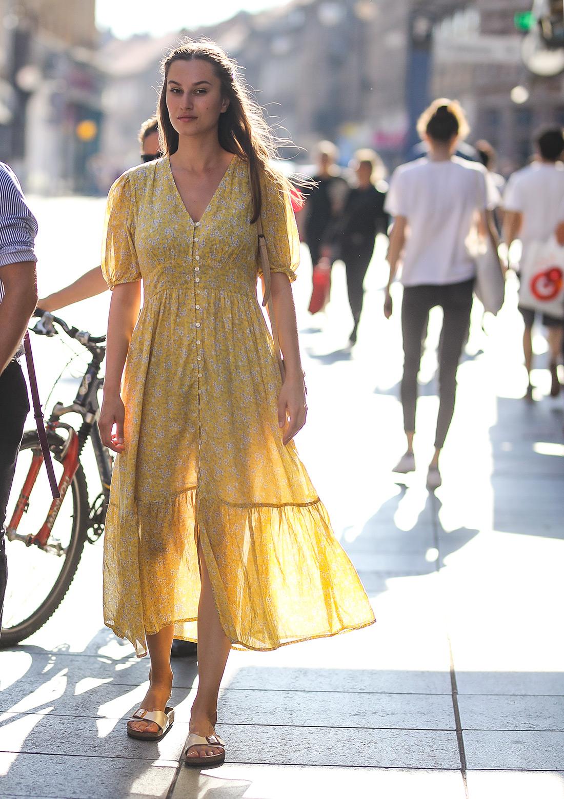 žuta pamučna Mango haljina zagrebačka špica