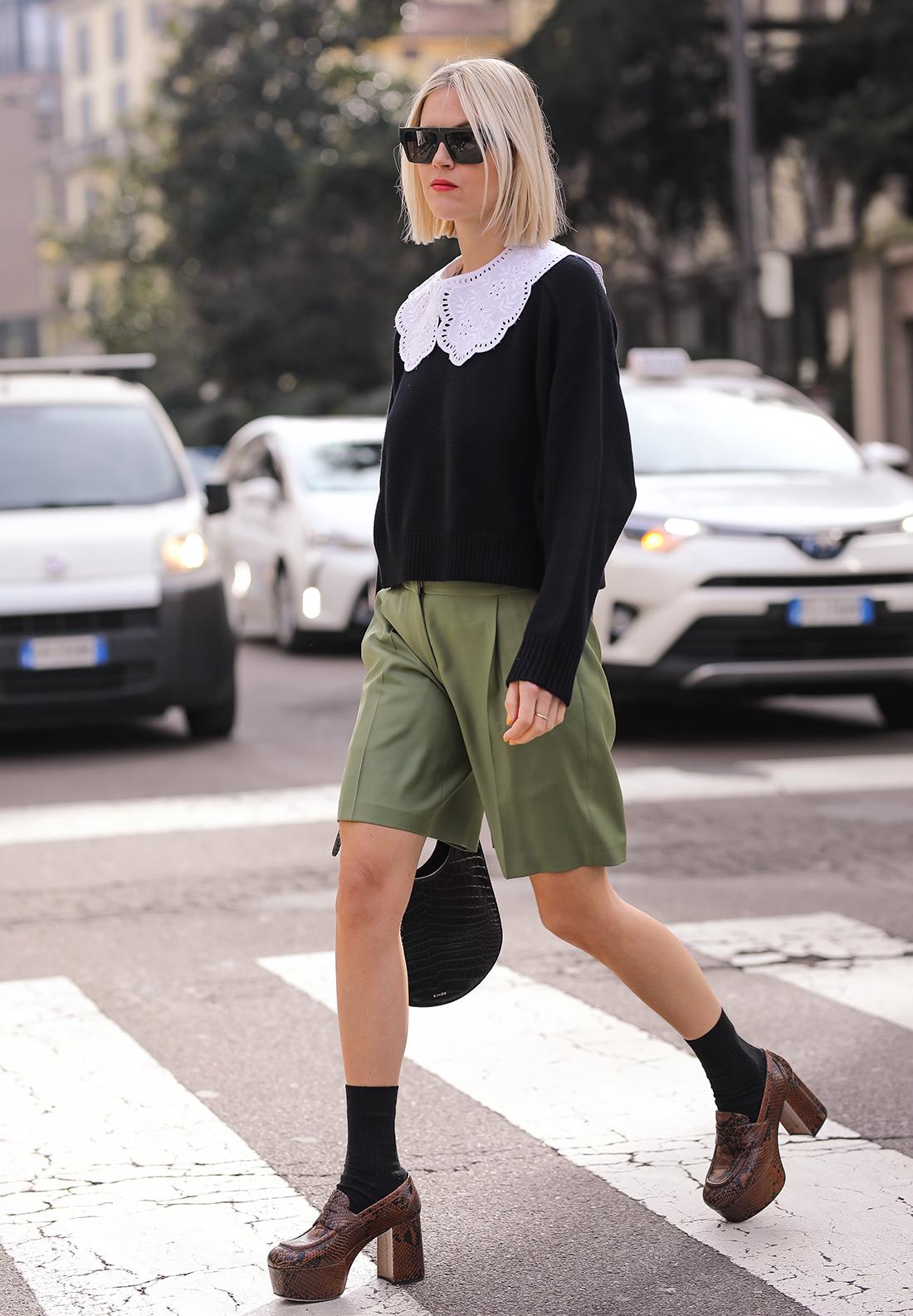gucci loafers street style milano ženska moda obuća jesen 2020 ulična moda zagreb