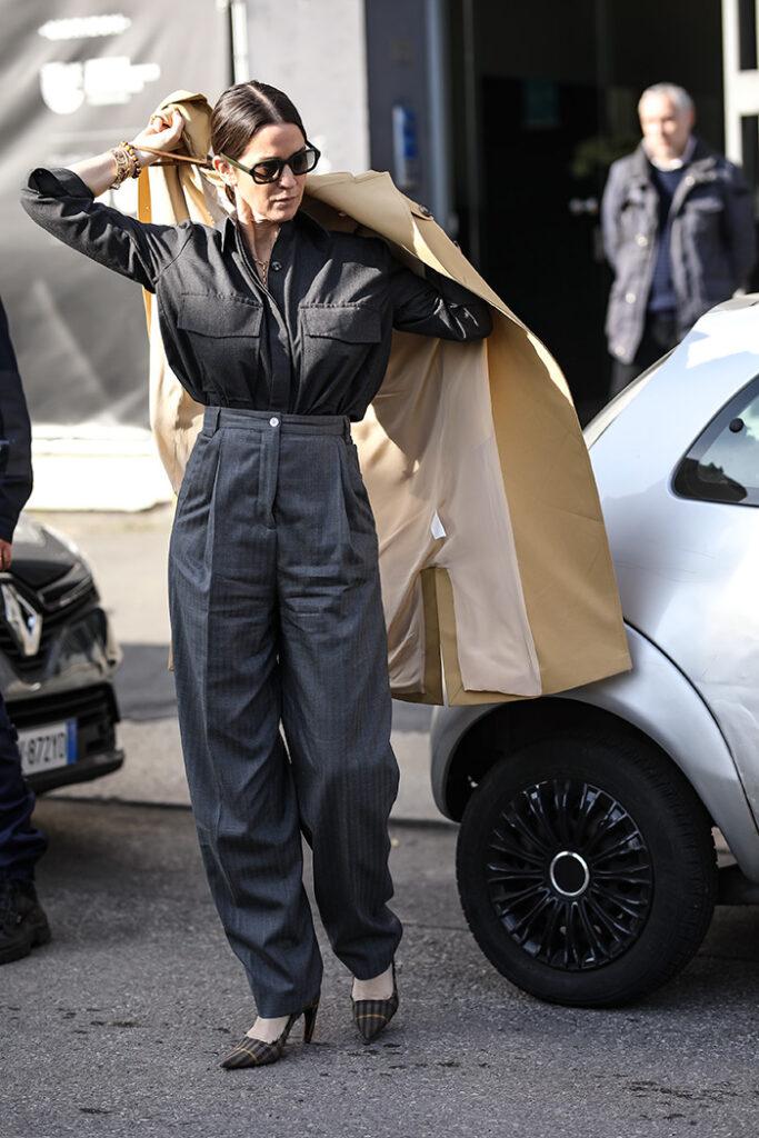Kakva je veza između balonera i cjepiva Milano street style fashion trench coat photo Ana Josipović