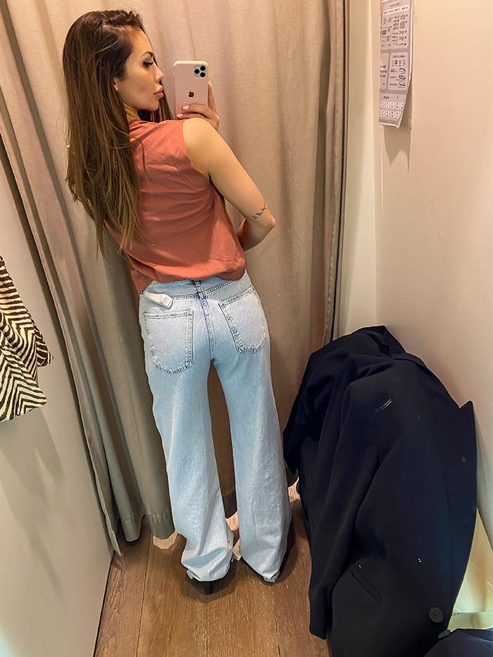 kakve zvonolike trapezice se sada nose Paula Helena Martinović Zara jeans Mango Stradivarius
