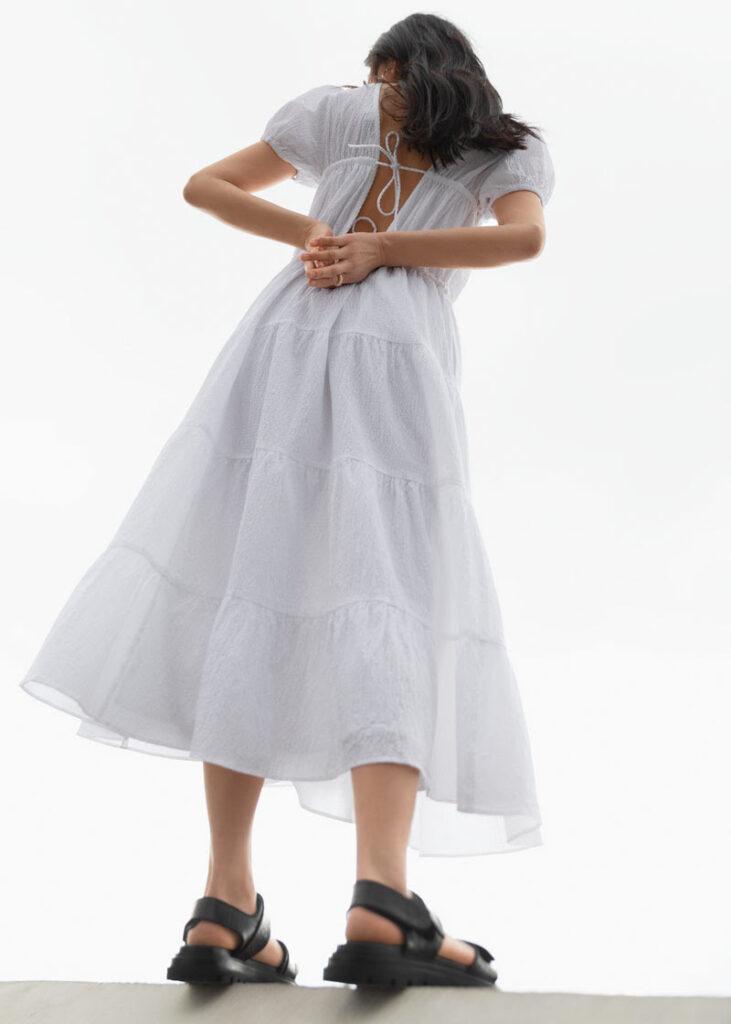 Sezona bijelih voluminozinih haljina Pernille Teisbaek Zara Asos H&M Cecilie Bahnsen &Other Stories