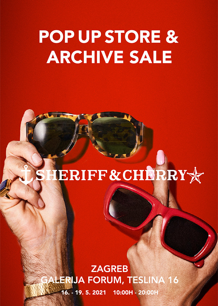 Dizajnerski pop up store u centru Zagreba: naočale i odjeća iz svih dosadašnjih Sheriff & Cherry serija